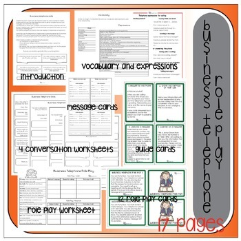 Business Telephone Role Play Adult By English Unite Resources Tpt