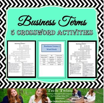 Business Terms Crossword Activities