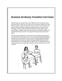 Business Vocabulary Translation Game in English and French