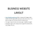 Business Website Planner