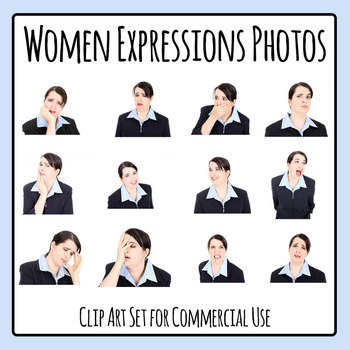 Business Woman Facial Expressions / Emotions Photos / Photograph Clip Art