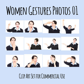 Business Woman Gestures Photos / Photograph Clip Art for Commercial Use