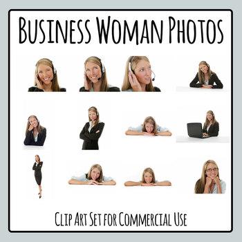 Business Woman Photos / Photograph Clip Art Set for Commercial Use