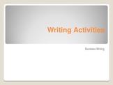 Business Writing Activities