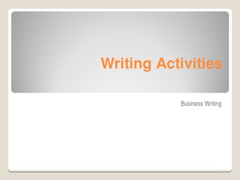 Business Writing Activities