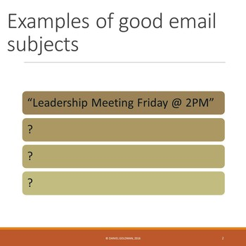 Business and Career Skills - Email Manners Lesson Activity