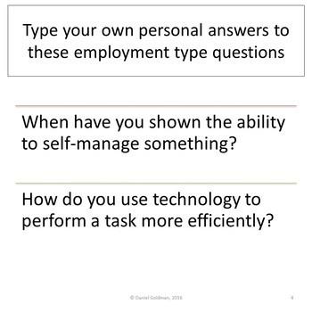 Business and Career Skills - Employabilty Skills Activity / Webquest