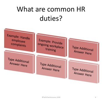 Business and Career Skills - Human Resources Basics Lesson Activity