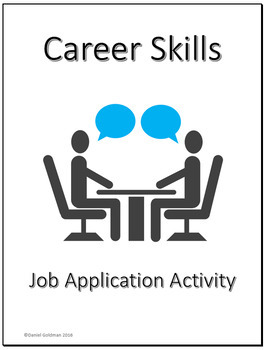 Business and Career Skills - Job Application Lesson Activity