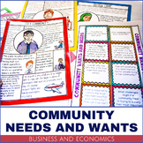 Business and Economics - Community Needs and Wants Activity