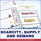 Business and Economics - Scarcity, Supply and Demand PRINTABLE