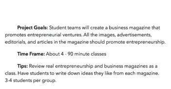 Business and Entrepreneurship Magazine Project