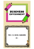 Business environment flashcards