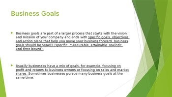 Business goals
