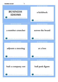 Business idioms_flash cards
