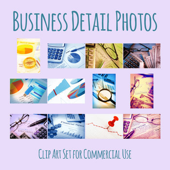 Business or Finanical Theme Photos Clip Art Set for Commercial Use