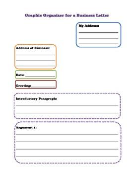 Business/Persuasive Letter Graphic Organizer