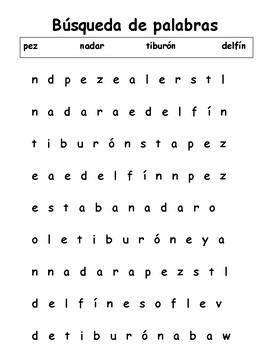 Búsqueda de palabras/Word Search - Ocean Words