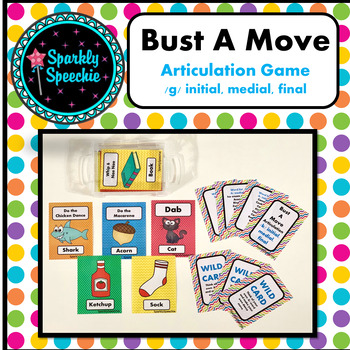 Bust A Move Articulation /g/- A Speech Therapy Game ALL Positions
