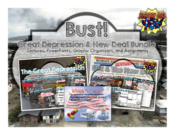 Bust!: The Great Depression & FDR's New Deal Bundle