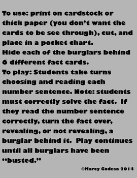 Bust the Burglar {Facts to 10}