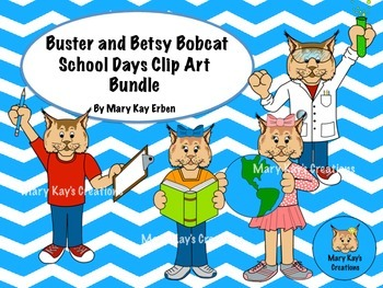 Bobcat Mascot School Days Clip Art Bundle