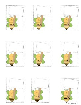 Busy As A Bee Job Chart