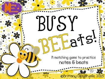 Busy BEEats - A matching game for practicing notes and beats