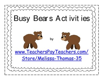 Busy Bears Activities Mini-Pack
