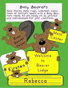 Busy Beaver Lodge Theme packet