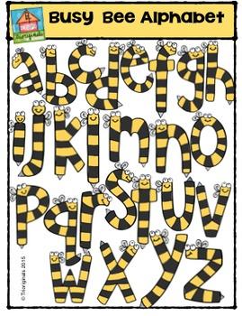 Busy Bee Alphabet {P4 Clips Trioriginals Digital Clip Art}