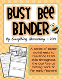 Busy Bee - Common Core Morning or Early Finisher Work | Ho