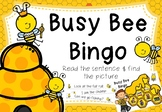 Busy Bee Bingo - Decodable Sentences