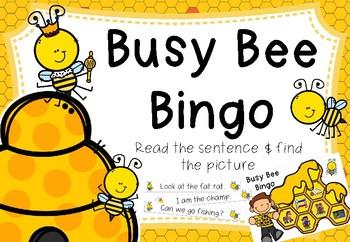 Busy Bee Bingo - Decodable Sentences