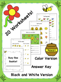Busy Bee Booklet {Packet of 20 Worksheets!}