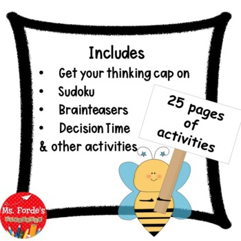 Busy Bee Booklet (Early Finisher Activity Booklet
