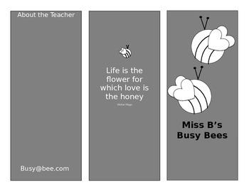 Busy Bee Brochure Template