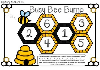 Busy Bee Bump- a Differentiated Maths Game