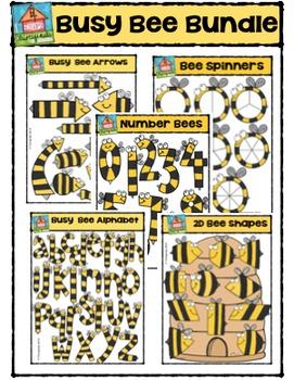 Busy Bee Bundle  {P4 Clips Trioriginals Digital Clip Art}