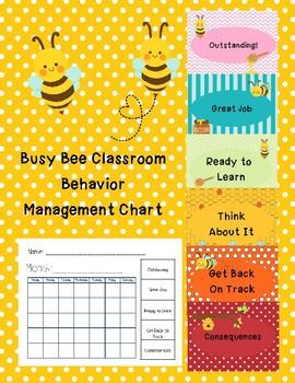 Busy Bee Classroom Behavior Management Chart