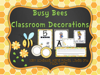 Busy Bee Classroom Decorations