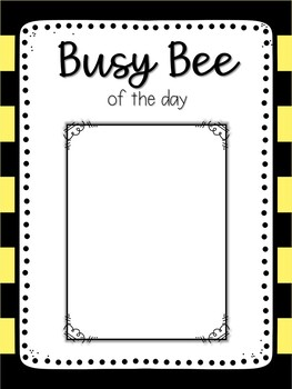 Busy Bee Classroom Resources