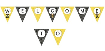 Busy Bee Classroom Theme - Welcome, Read Buntings