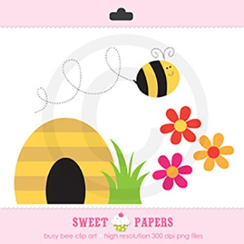 Busy Bee Digital Clipart Set