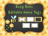 Busy Bee Editable Name Tags