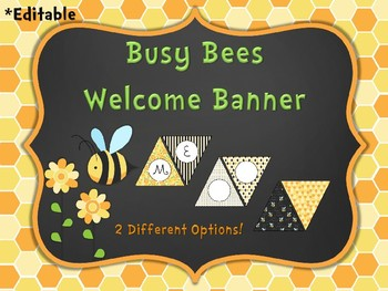 Busy Bee Editable Welcome Banner