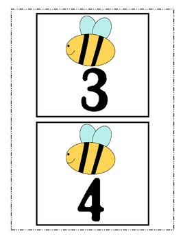 Busy Bee Growing Number Line