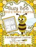 Kindergarten Word Work Journal