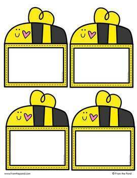 Busy Bee Labels for the Classroom {Editable}