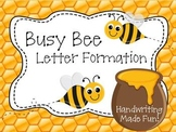 Busy Bee Letter Formation Pack - Handwriting Made Fun!